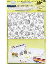 Творчески комплект картички и пликове Folia - Рожден ден