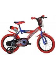 """Детско колело Dino Bikes - Спайдърмен, червено, 14"""""""