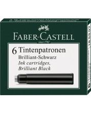 Комплект патрончета за писалка Faber-Castell - Черни, 6 броя -1