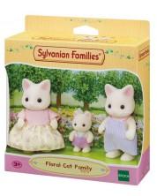 Комплект фигурки Sylvanian Families - Семейство котета, Floral