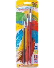 Комплект четки за рисуване Gimboo - 3 броя
