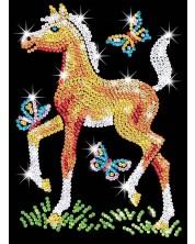 Творчески комплект KSG Crafts Sequin Art - Изкуство с пайети, Конче