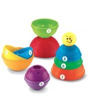Образователна играчка Fisher Price - Кула от купички -1