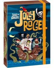 Кутия с ластик Ars Una Jolly Roger А4 -1