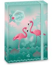 Кутия с ластик Ars Una Pink Flamingo А4