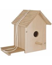 Дървен комплект Eichhorn - Къщичка за птици, за оцветяване -1