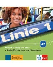 Linie 1 A2 Audio-CDs (4) zum Kurs- und Übungsbuch