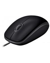 Мишка Logitech B110 Silent - оптична, черна