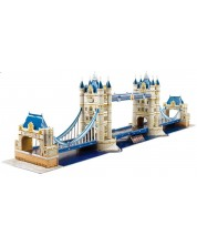 3D Пъзел Cubic Fun от 120 части - Tower Bridge, London -1