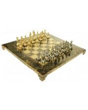 Луксозен шах Manopoulos - Махагон, с кафяви кантове -1