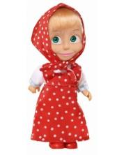 Кукла Simba Toys - Маша с червена рокля на точки и забрадка