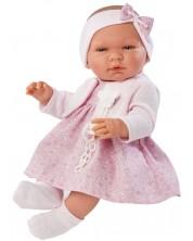Кукла Asi - Бебе Мария, с розова рокличка и плетена жилетка