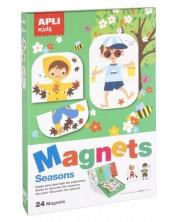 Детска магнитна игра Apli - Сезоните