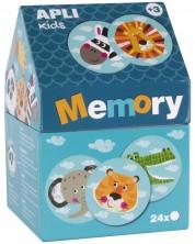 Мемори игра Apli Kids - Животни в къщичка