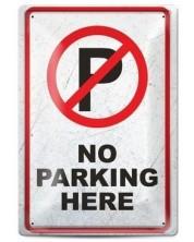 Метална табелка - No parking