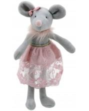 Парцалена кукла The Puppet Company - Танцуваща мишчица, в розова дрешка, 38 cm