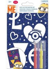 Творчески комплект Revontuli Toys Oy - Оцвети сам блестяща картина, Миньоните
