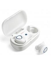 Слушалки Microlab Trekker 200 - бели, true wireless -1