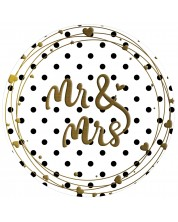 Табелка-картичка - Mr & Mrs -1
