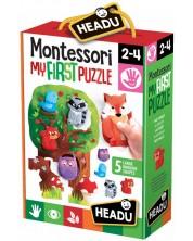 Образователен пъзел Headu Montessori - Моят първи пъзел, В гората -1