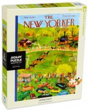 Пъзел New York Puzzle от 1000 части - Конно шоу -1
