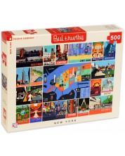 Пъзел New York Puzzle от 500 части - Ню Йорк, колаж -1