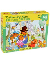 Пъзел New York Puzzle от 48 части - Благословен да е нашия дом -1