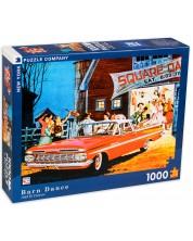 Пъзел New York Puzzle от 1000 части - Танци в хамбара -1
