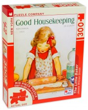 Пъзел New York Puzzle от 300 макси части - Малката пекарка -1
