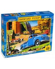 Пъзел New York Puzzle от 48 части - Barnyard Pickup -1