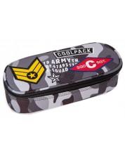 Елипсовиден ученически несесер Cool Pack Campus - Camo Black Badges -1