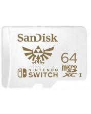 Карта памет SanDisk - 64GB, microSDXC, за Nintendo Switch -1