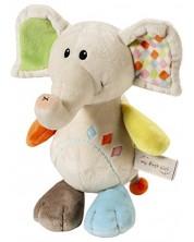 Плюшена бебешка играчка My First Nici - Слончето Дунди -1