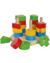 Дървена игра Eichhorn - За нанизване -1