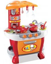 Игрален комплект Buba Little Chef - Детска кухня, червена -1