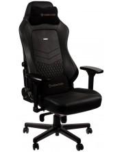 Гейминг стол noblechairs HERO - естествена кожа, черен
