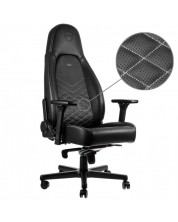 Гейминг стол noblechairs - ICON, черен/бял -1