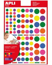 Самозалепващи стикери Apli - Микс, 7 цвята, 664 броя