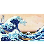 Пъзел Trefl от 1000 части - Огромна вълна на Канагава,  Хокусай Кацушика