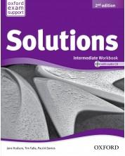 Тетрадка по английски език за 9-12. клас Solutions 2E Intermediate WB & CD PK -1