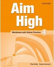 Тетрадка по английски език за 9-12. клас Aim High 4 WB & ONL Pack -1