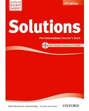 Solutions 2E Pre-Intermediate Teachers Book & CD-ROM Pack