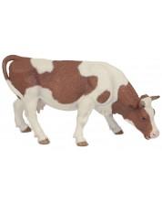 Фигурка Papo Farmyard Friends – Кафяво-бяла пасяща крава