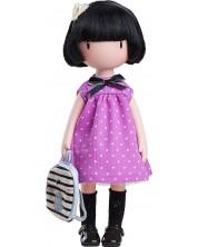 Кукла Paola Reina Gorjuss - Bluebird's proposal, с лилава рокля, 32 cm