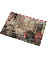 Папка Panta Plast - London Collection, с цип, формат А4