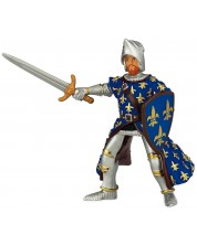 Фигурка Papo The Medieval Era – Принц Филип, със сини доспехи