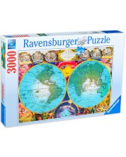 Пъзел Ravensburger от 3000 части - Антична карта на света