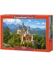 Пъзел Castorland от 500 части - Изглед към замъка Нойшванщайн, Германия -1