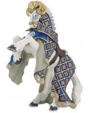 Фигурка Papo The Medieval Era – Конят на рицаря на Синия овен