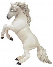 Фигурка Papo Horses, foals and ponies – Изправен кон, бял